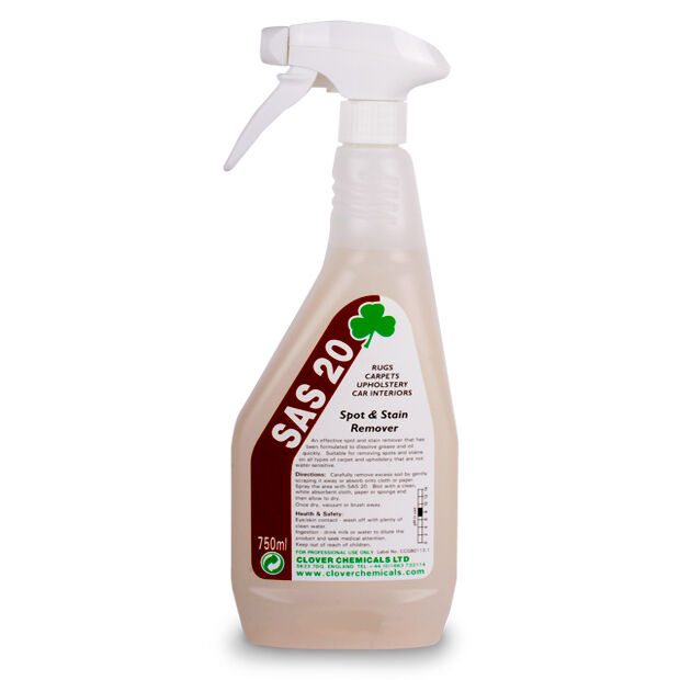 Carpet & Fabric Spot & Stain Remover Dissloves Grease Oil ...