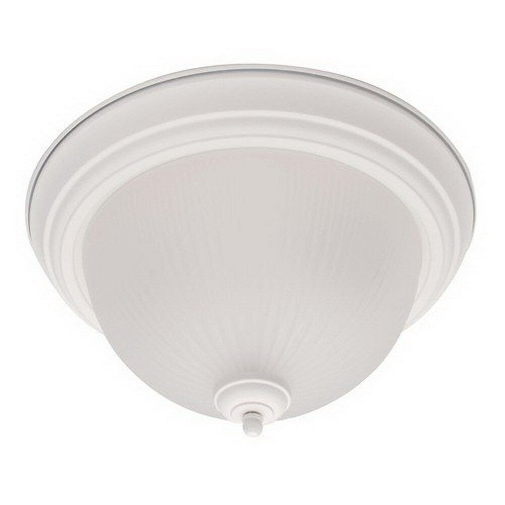 White Ceiling Lamps: TEXTURED WHITE FLUORESCENT CEILING LIGHT FIXTURE 15.25