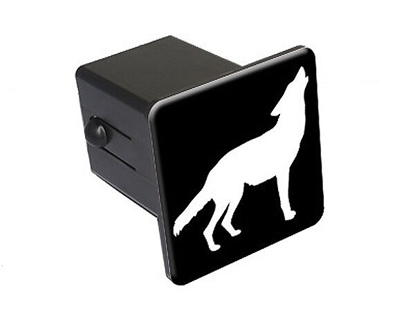 Wolf howling tow trailer hitch cover plug insert truck