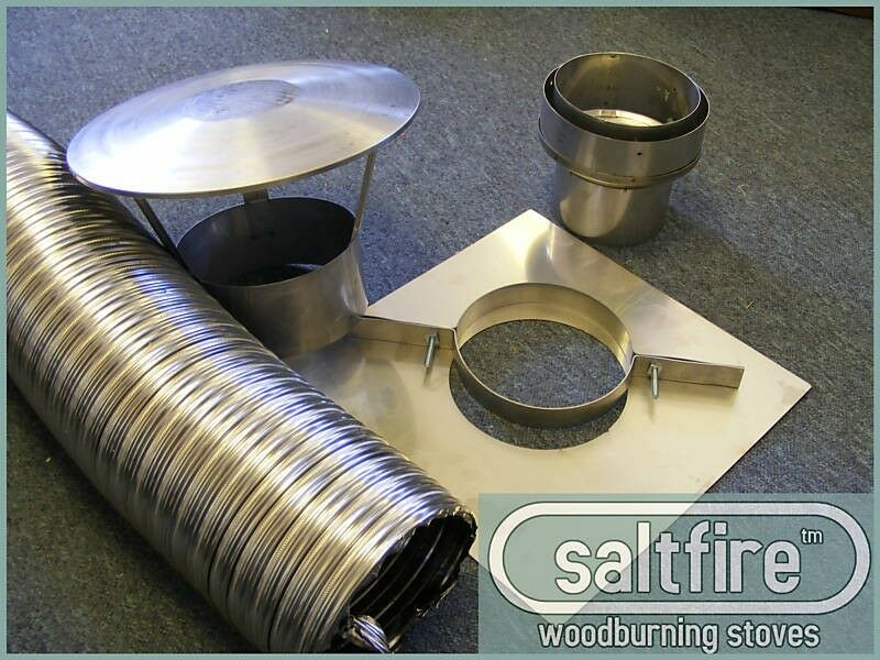 5 Quot Inch 125mm Stainless Steel Flue Liner Kit Multifuel