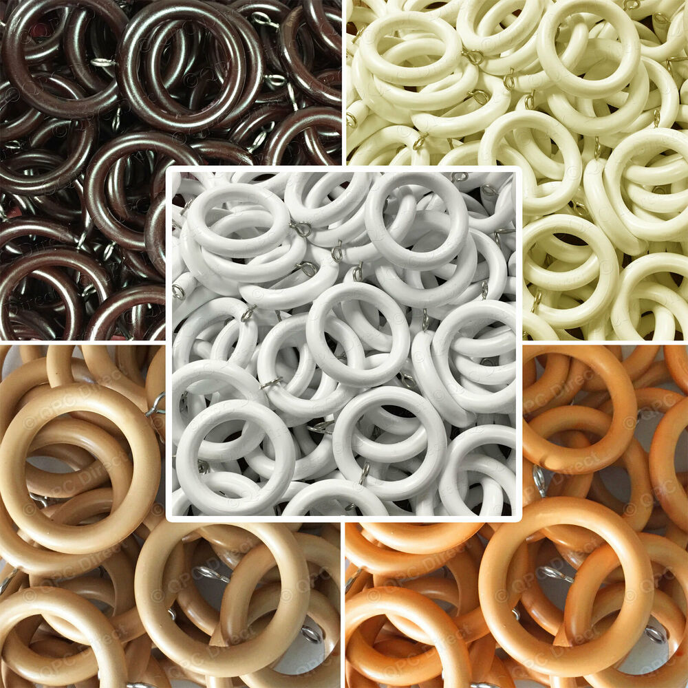 10 Pack Super Strong Unbreakable Curtain Rings To Fit 28mm