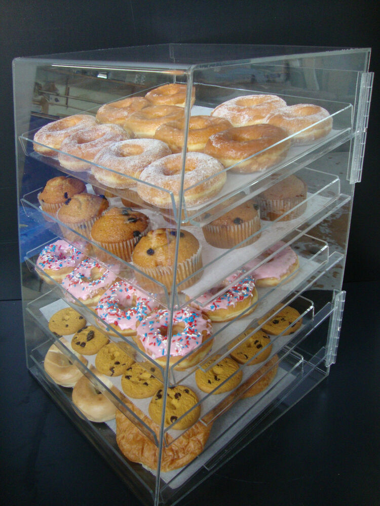 Acrylic Pastry Bakery Donut Bagels Cookie Display Case ...