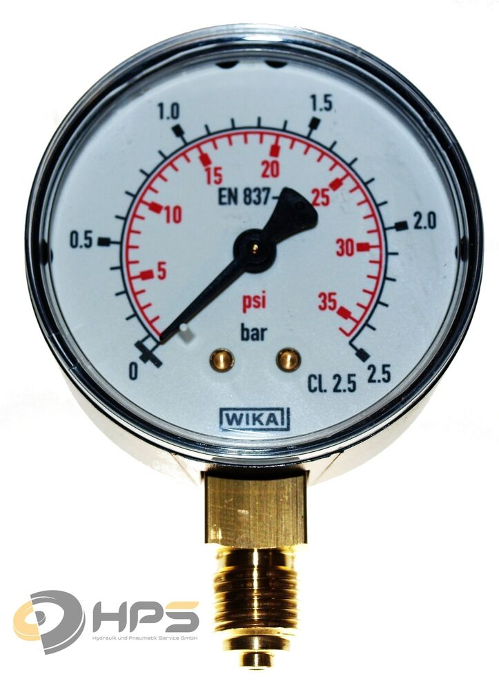 wika manometer 0 2 5 bar1 4 ag ua 50mm druckmanometer ebay. Black Bedroom Furniture Sets. Home Design Ideas