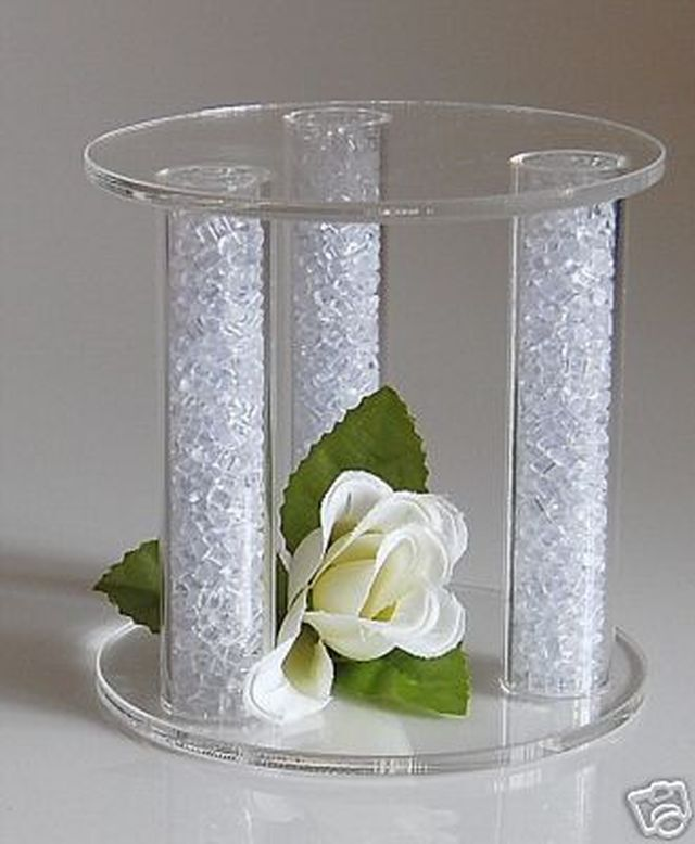 wedding cake separator plates and pillars mini acrylic cake separator cake topper wedding stand ebay 24273
