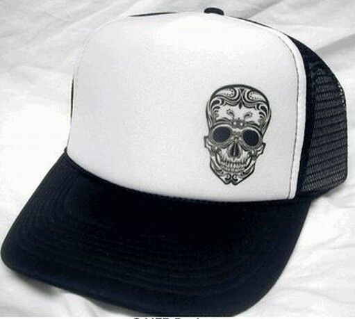 Tattoo Skull Day Of The Dead Trucker Hat Mesh Hat Snapback