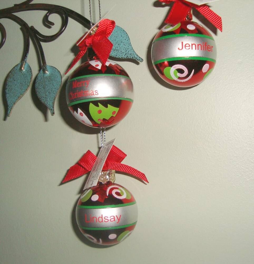Ganz joyous noel personalized christmas ball ornament many List of christmas ornaments