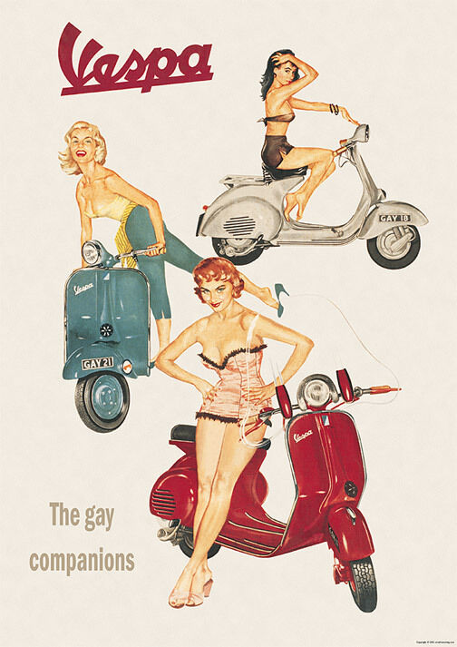 vespa classic scooter the gay companions picture poster