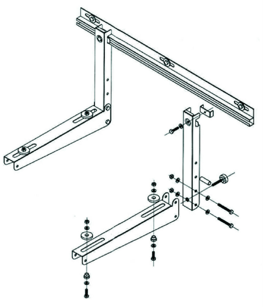 Air Conditioning Universal Bracket Kit For Outdoor Unit