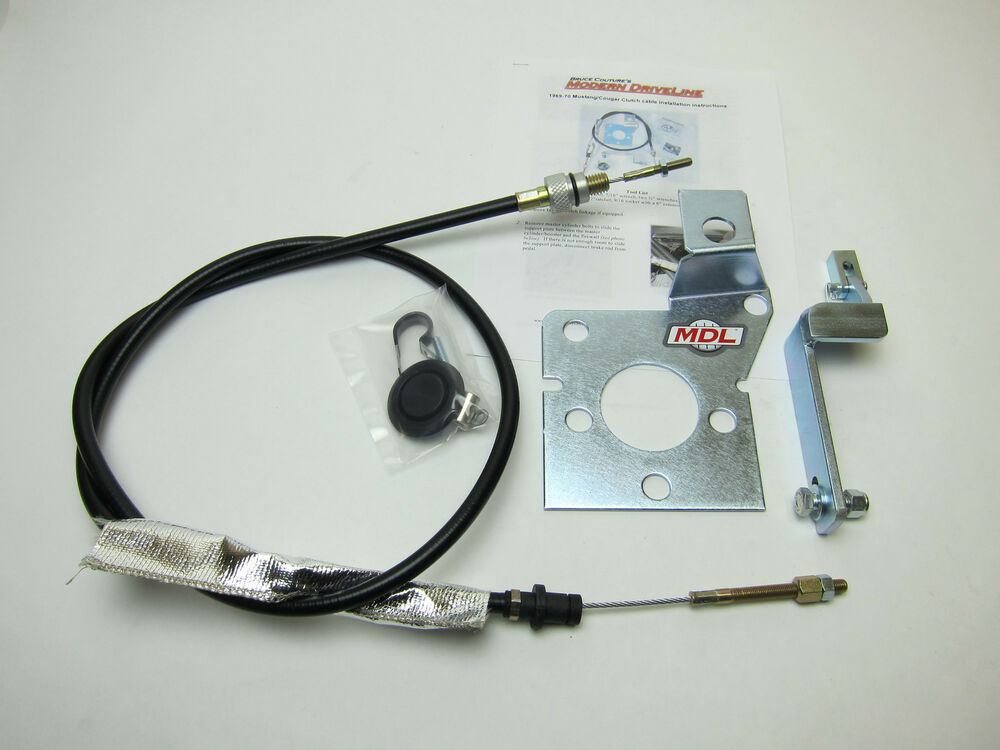 1969 70 Mustangs Cougar T5 T45 T56 Tko Clutch Cable Kit Ebay