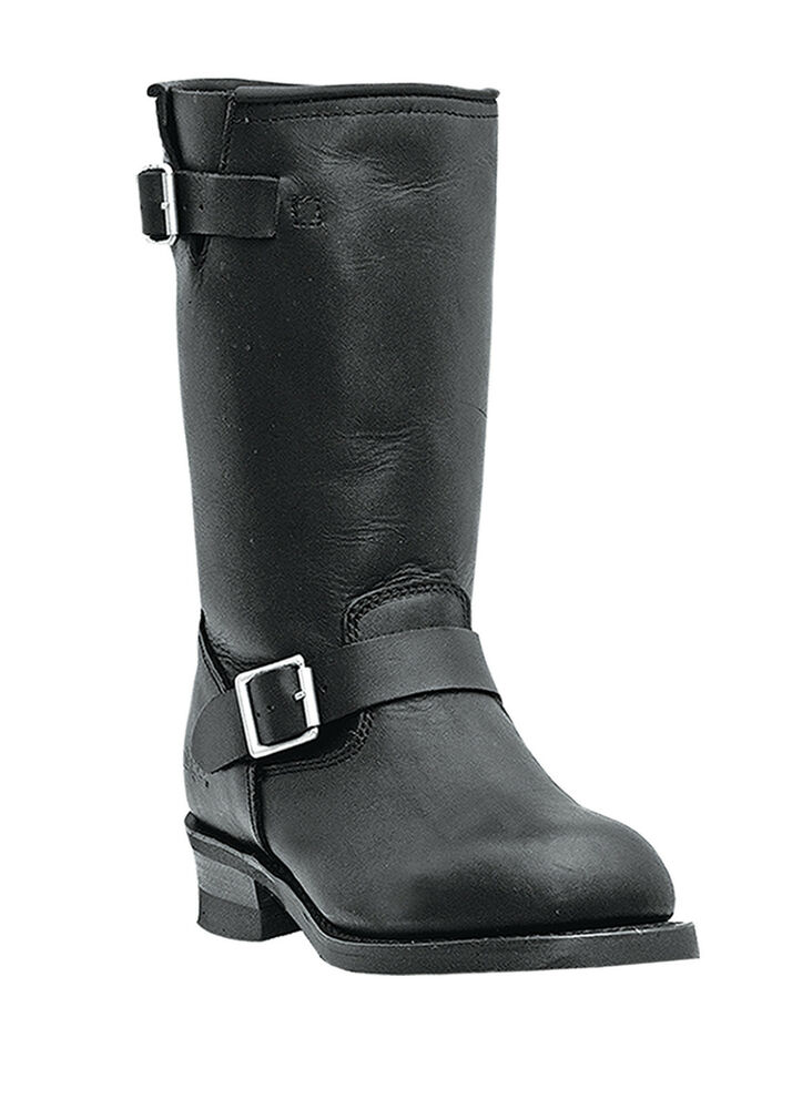dingo s black leather engineer motorcycle boots