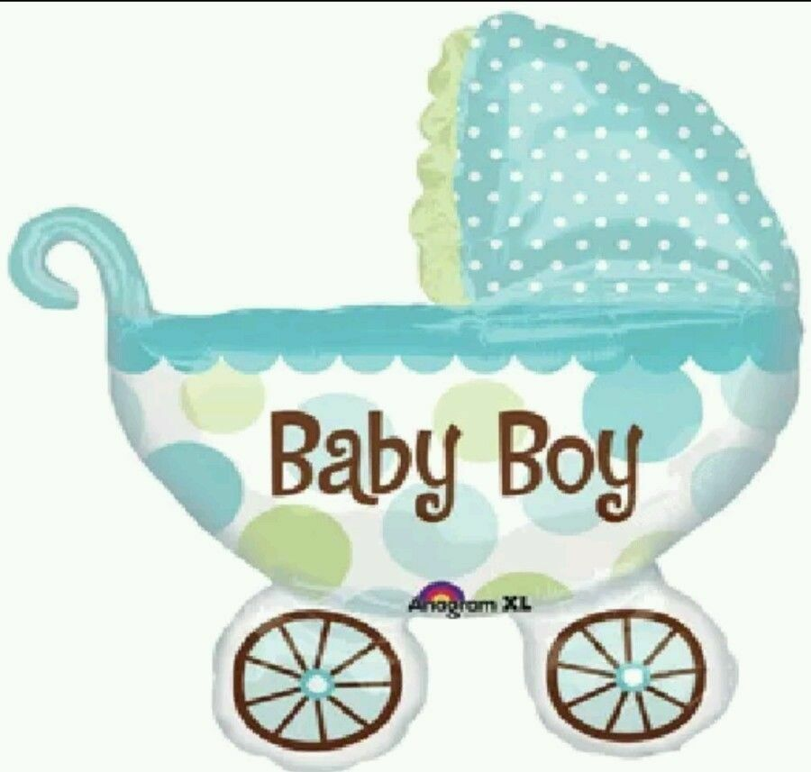 Its a boy baby buggy 31 balloons new baby shower for Baby shower decoration free
