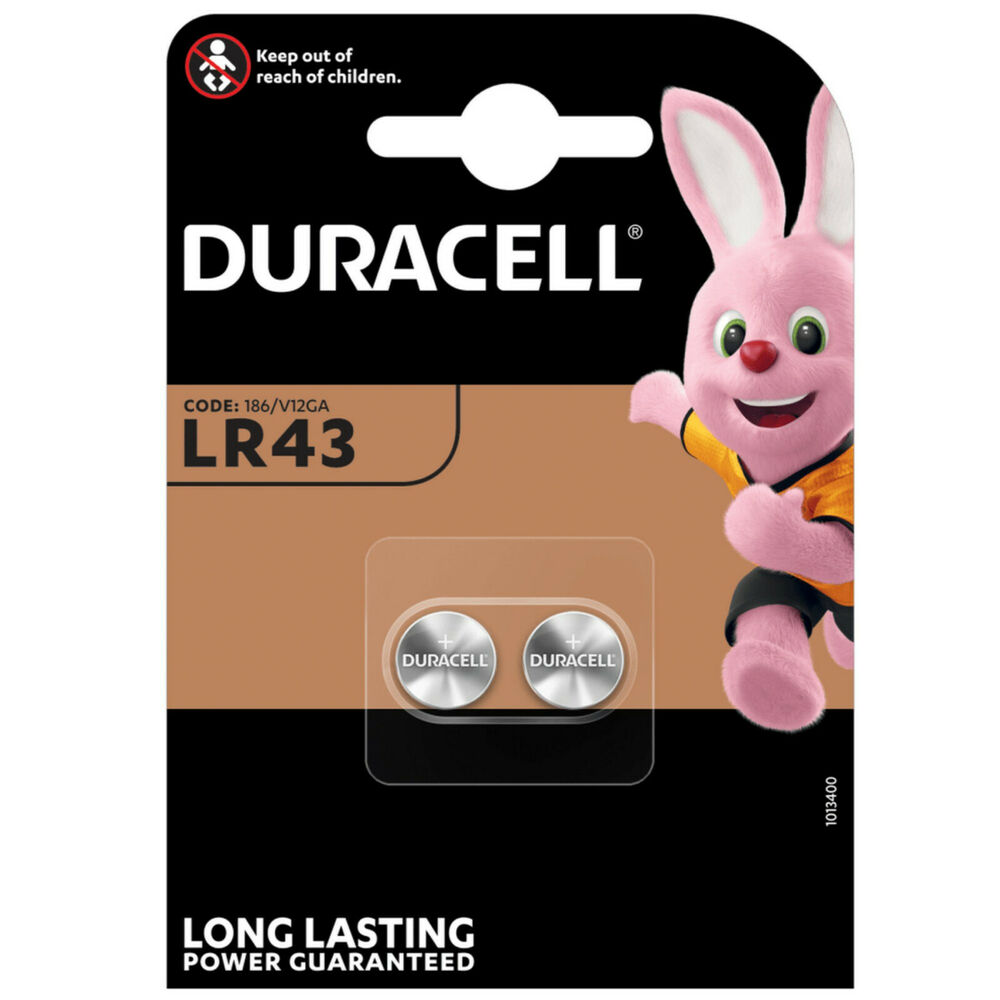 2 x lr43 duracell alkaline coin batteries 186 v12ga ag12 l1142 g12a ebay. Black Bedroom Furniture Sets. Home Design Ideas