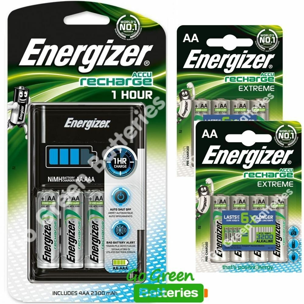 energizer 1 hour aa aaa charger 12 x 2300 mah. Black Bedroom Furniture Sets. Home Design Ideas