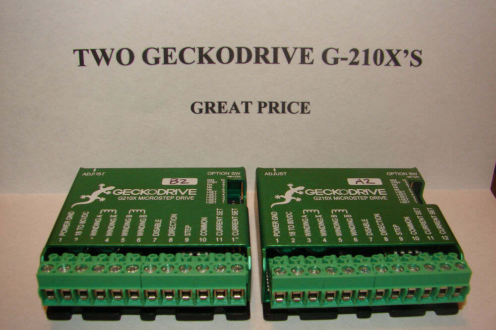 Two Cnc Geckodrive G 210x 39 S Extras Stepper Motor Driver
