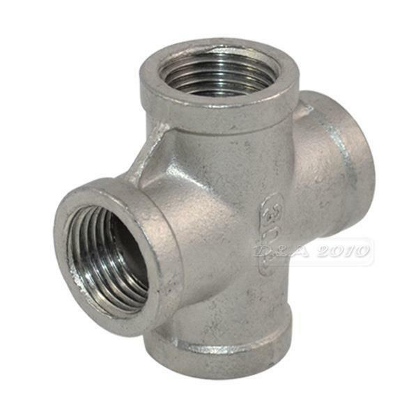 Stainless steel pipe fitting quot thread way female