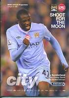 MAN CITY v SUNDERLAND 2011/2012 MINT PROGRAMME