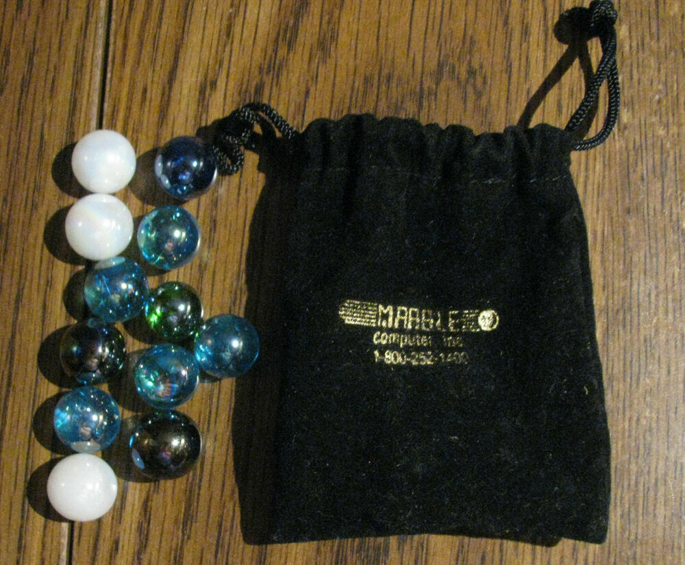Vintage Marble Computer Inc Advertising Bag Of Marbles Bag