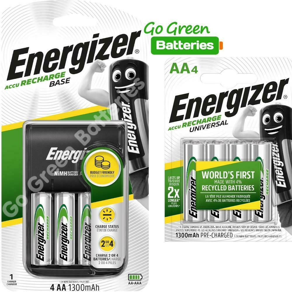 energizer base aa aaa charger 8 x aa 1300 mah. Black Bedroom Furniture Sets. Home Design Ideas