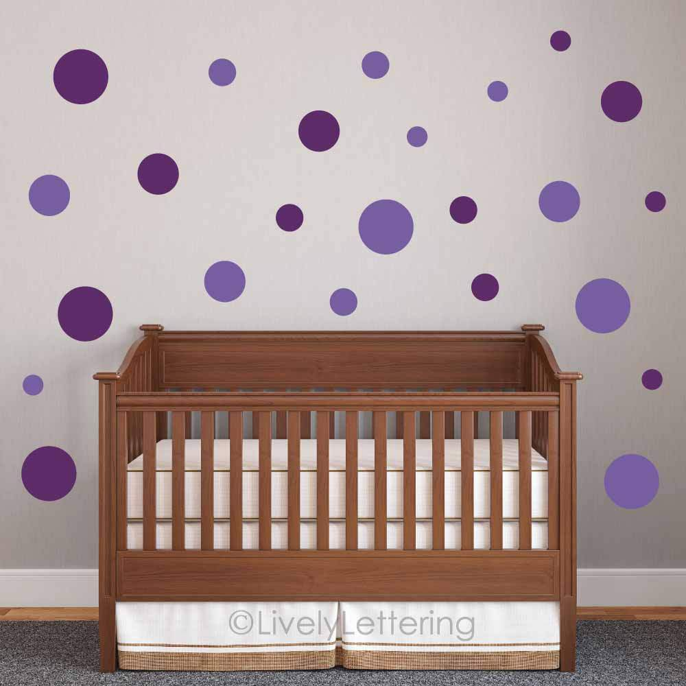 Polka Dot Wall Decals For Kids Rooms : POLKA DOT wall decals, Circle wall decals, DOTS wall art, child ...