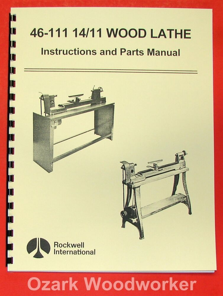 ROCKWELL 46-111 & 46-150 Lathe Operator & Part Manual 0607 ...