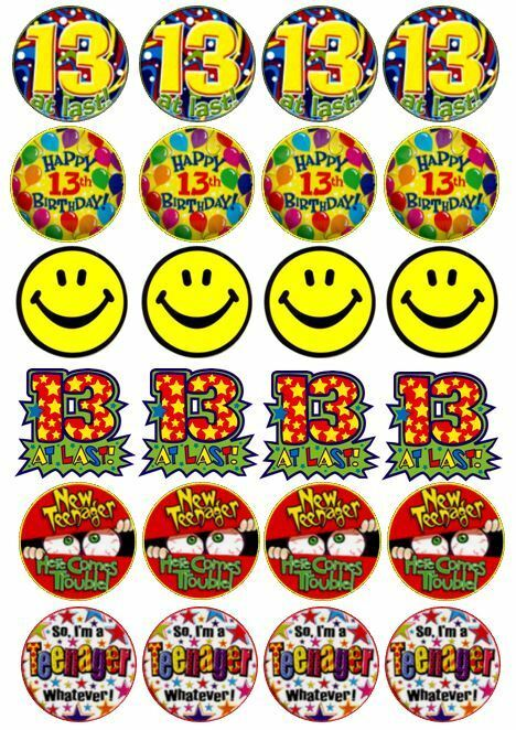 Th Birthday Edible Cake Toppers