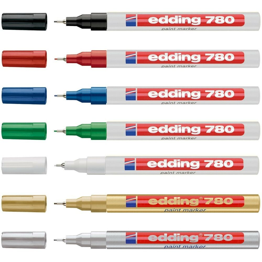 edding 780 paint marker pen extra fine low odour 8 colours available ebay. Black Bedroom Furniture Sets. Home Design Ideas