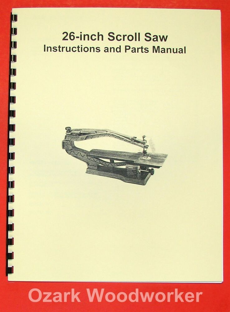 Jet Asian Jss 26 26 Quot Scroll Saw Operator S Amp Parts Manual