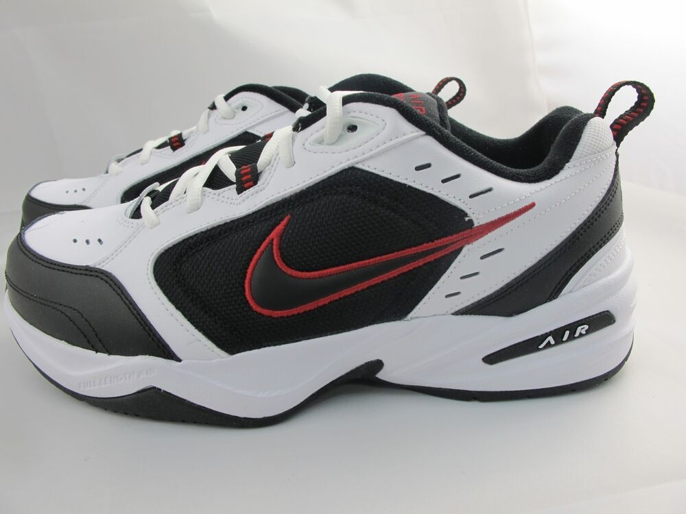 New Men S Nike Air Monarch Iv 416355 101 White Black