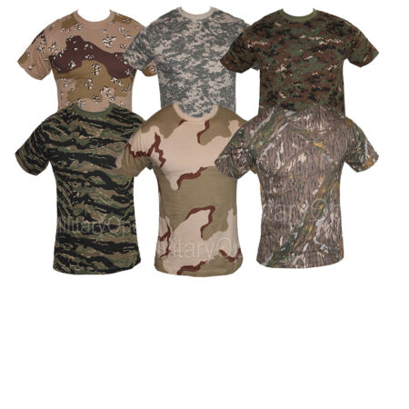 img-MENS MILITARY CAMOUFLAGE CAMO DIGITAL T SHIRT XS - XXXL ARMY COMBAT 100% COTTON