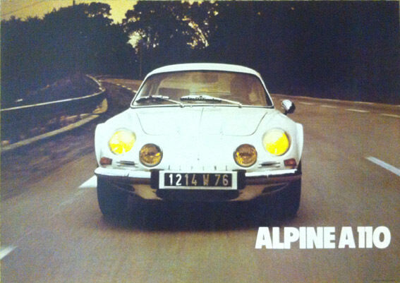 renault alpine a110 wei berlinette oldtimer poster drucke. Black Bedroom Furniture Sets. Home Design Ideas