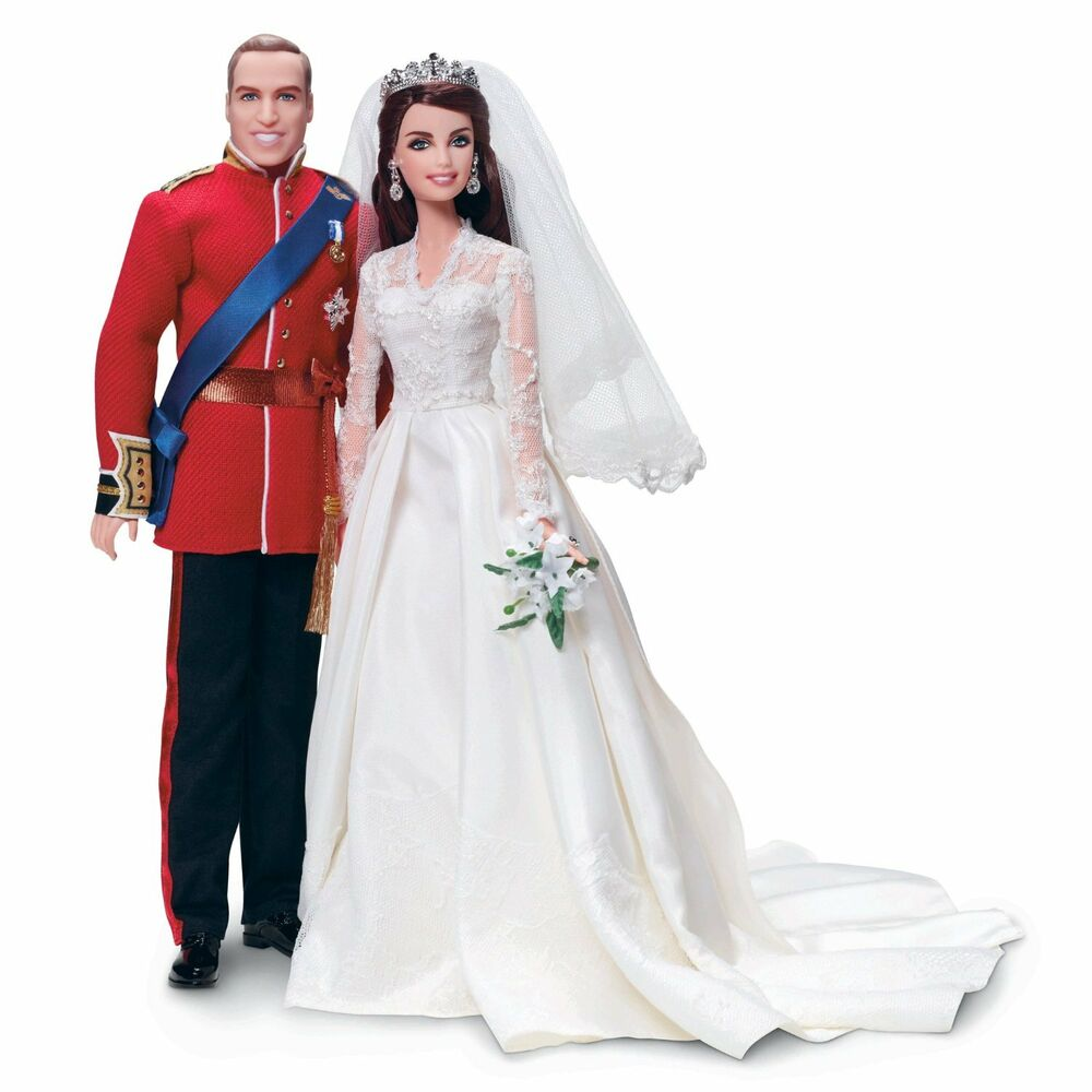 NIB Barbie Collector William And Katherine Royal Wedding