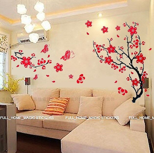 blossom flowers tree wall stickers mural art decal