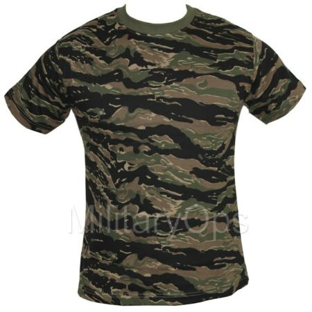 img-MILITARY WOODLAND TIGER STRIPE CAMOUFLAGE CAMO T SHIRT US ARMY 100% COTTON