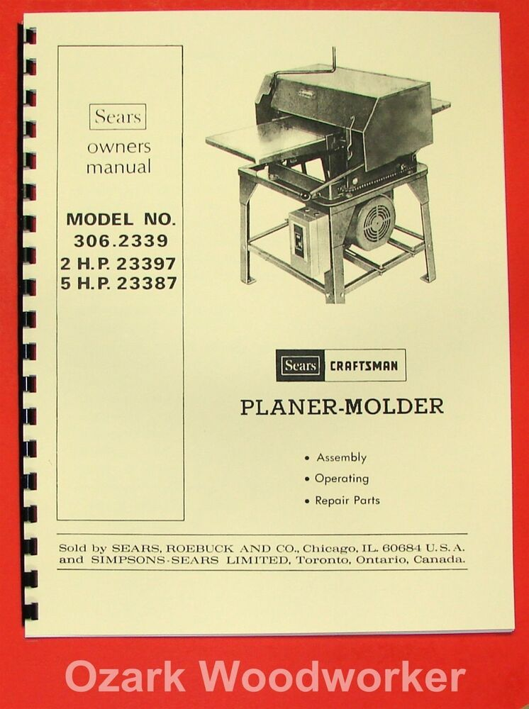 Tractor Manual Thickness : Craftsman wood thickness planer molder