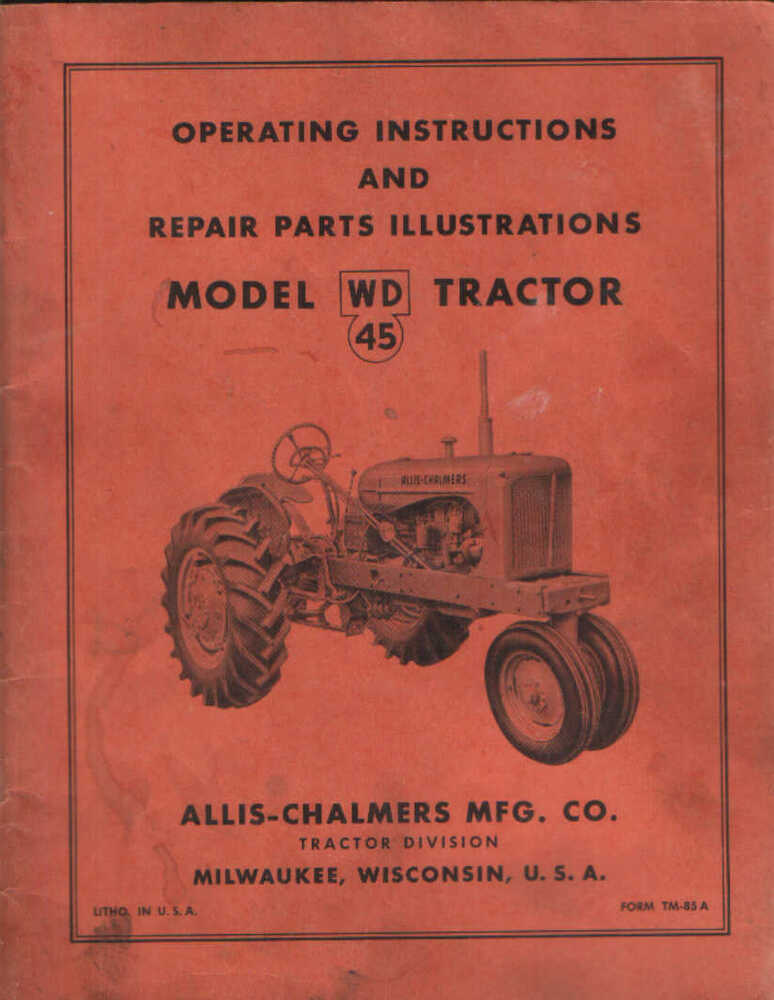 Allis chalmers wd45 Free Manual