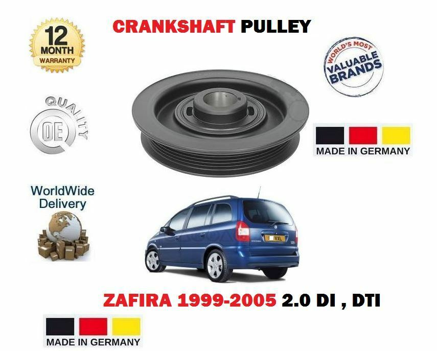 for vauxhall opel zafira 2 0 di 2 2 dti 16v 1999 crankshaft belt pulley pully ebay. Black Bedroom Furniture Sets. Home Design Ideas