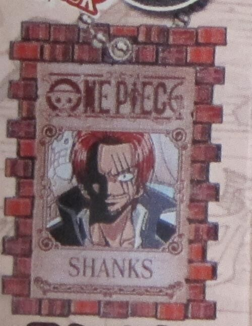 One Piece Shanks Wanted Poster Key Chain Anime NEW | eBay