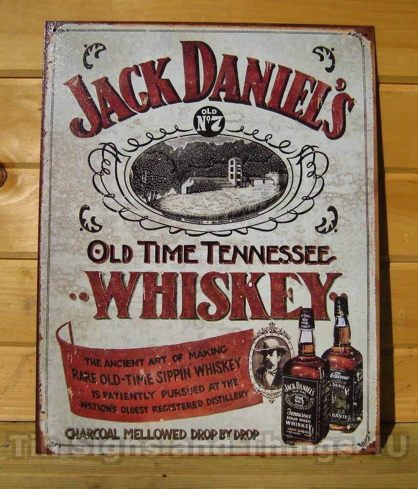 jack daniels sippin whiskey licensed tin sign reproduction. Black Bedroom Furniture Sets. Home Design Ideas