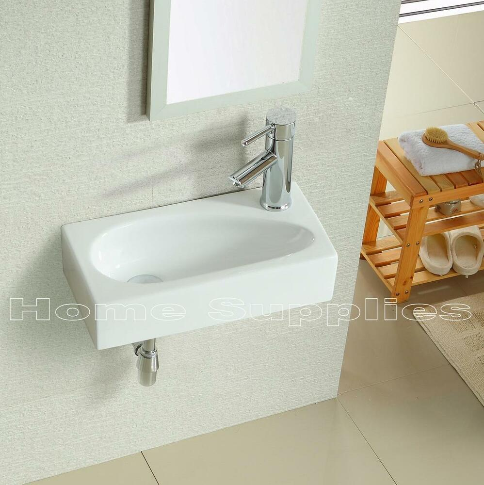 Bathroom Cloakroom Wall Hung Basin Sink Hs17l Ebay