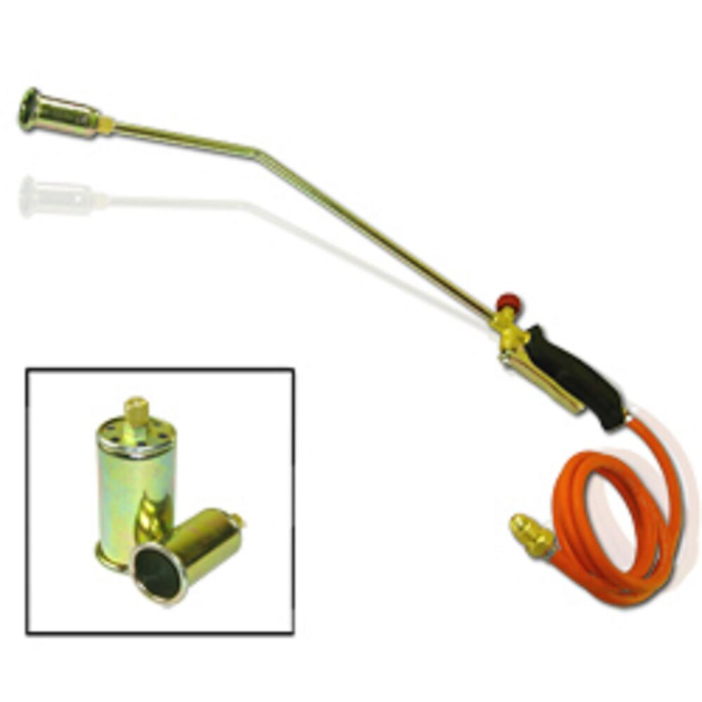 Propane Torch W 2 Extra Nozzle Ice Melter Weed Burner Ebay