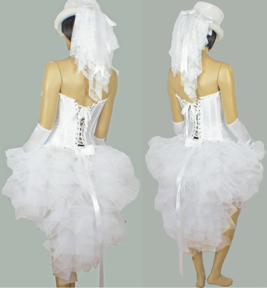 all white burlesque wedding bride hen party night tutu