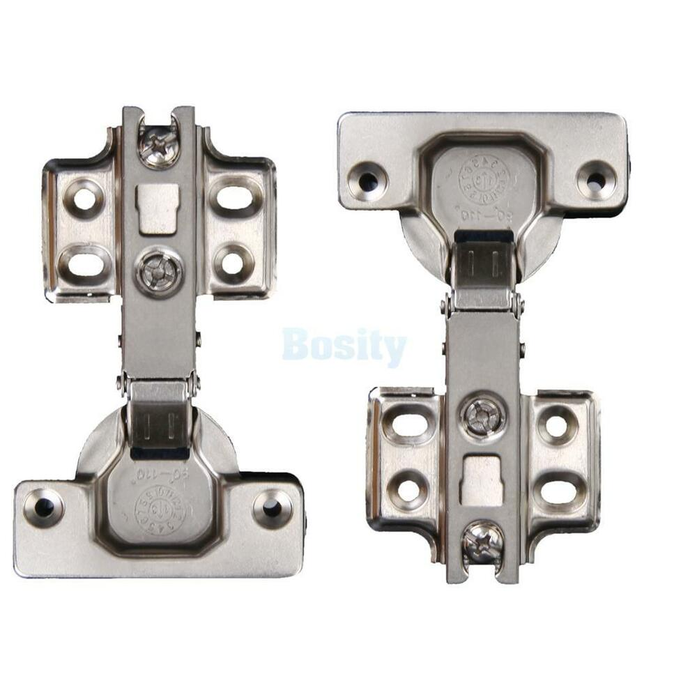Stainless Steel Kitchen Cabinet Hinges: 2 X Stainless Steel Self Close Cabinet / Furniture Door