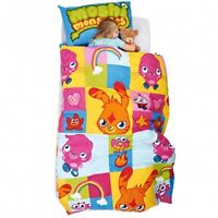 MOSHI MONSTERS 'MONSTERS' ROTARY SINGLE BED DUVET QUILT COVER SET (FREE P+P)