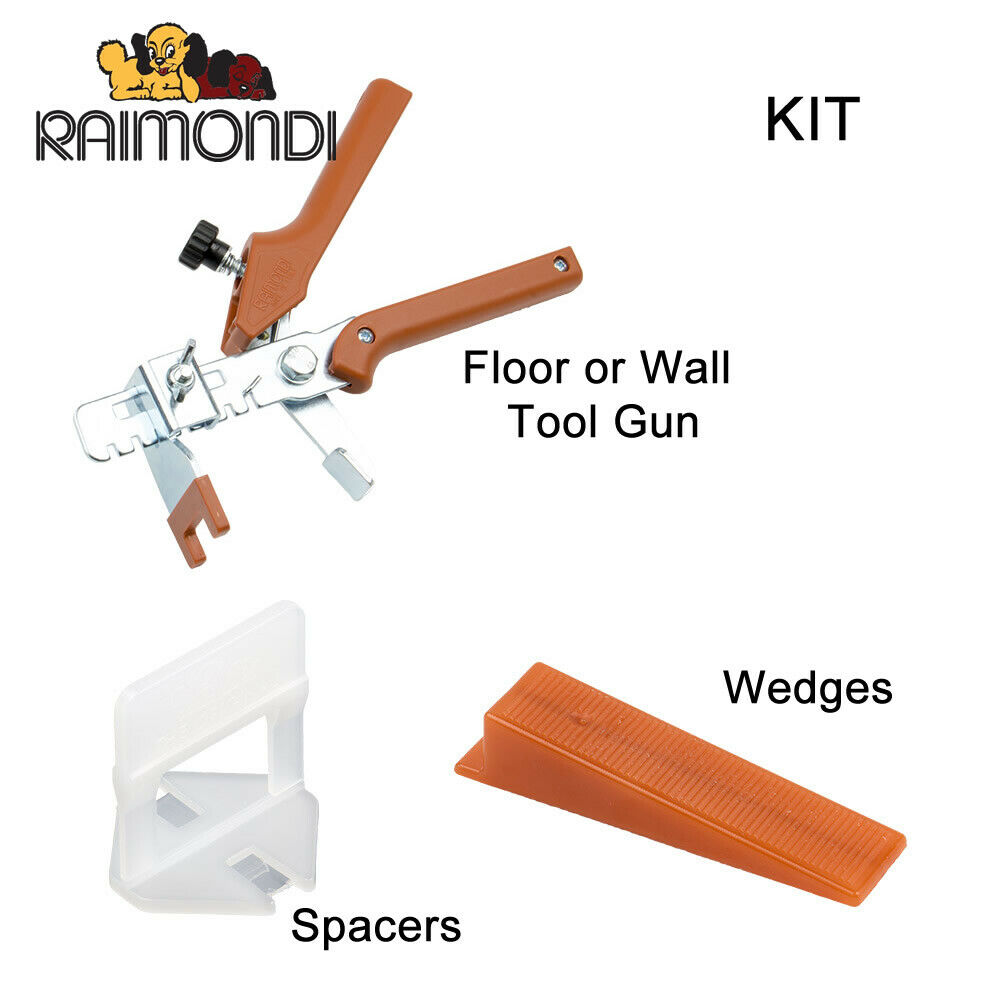 Raimondi tile spacer leveling system variety of kits for Carrelage 3mm