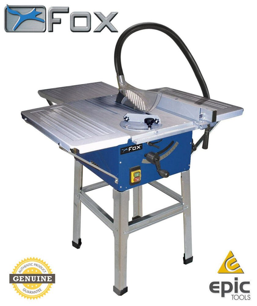 Fox F36 522e 10 250mm 1800w Bench Table Saw With Extensions Stand Tct Blade Ebay