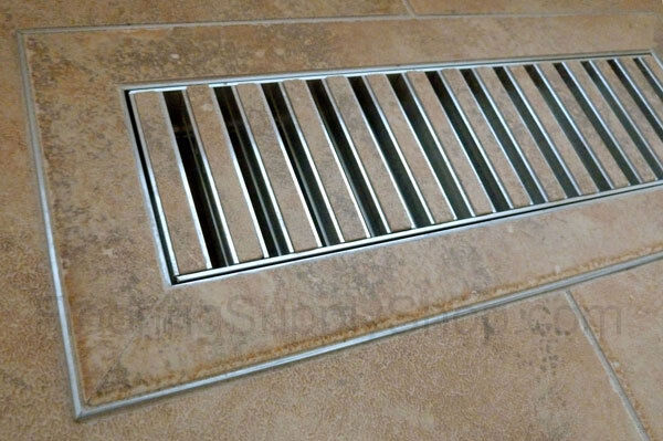 Chameleon Hard Surface Floor Vent Registers For Tile