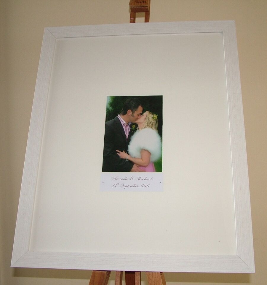 Wedding Photo Books Uk: Wedding Guest Book Signing Frame Personalised