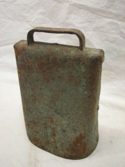 antique cow bell farm tool football noise maker musical