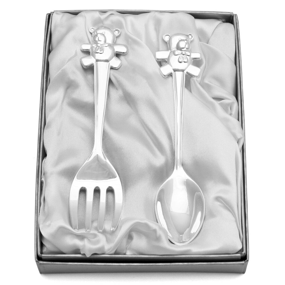 Christening Cutlery Silver Plated Engraved Personalised