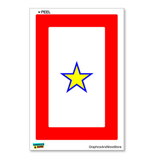 Gold Star Military Service Flag One 1 War Mother Window